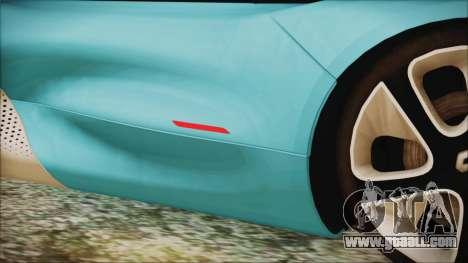 Renault Dezir Concept 2010 v1.0 for GTA San Andreas upper view