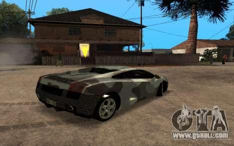 Lamborghini Gallardo Tunable v2 for GTA San Andreas inner view