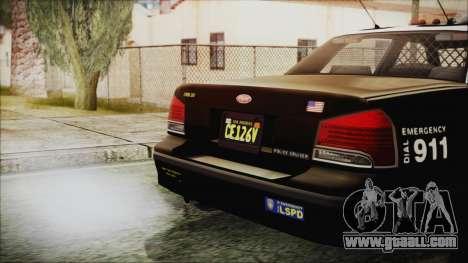 GTA 5 Vapid Stranier II Police Cruiser for GTA San Andreas right view