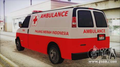 Indonesian PMI Ambulance for GTA San Andreas left view