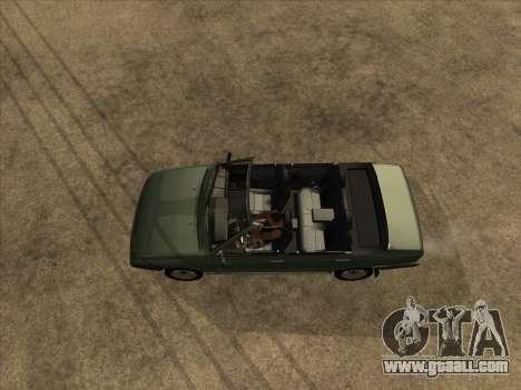VAZ 21099 Convertible for GTA San Andreas back view