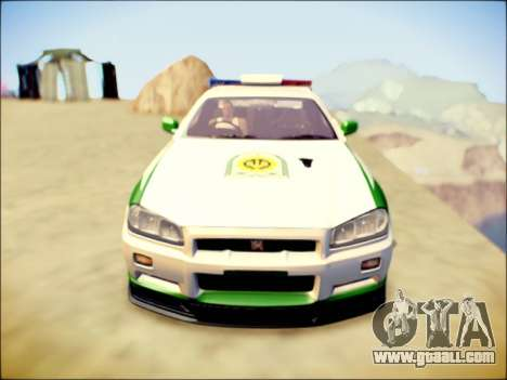 Nissan Skyline Iranian Police for GTA San Andreas left view