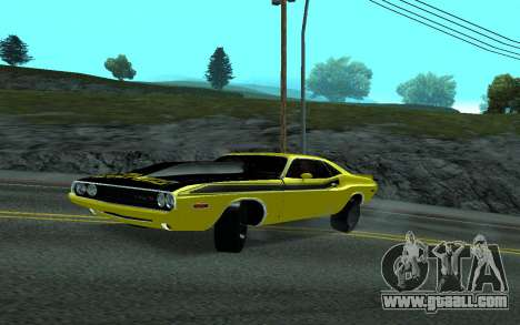 Dodge Challenger Tunable for GTA San Andreas back left view
