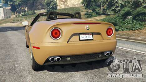 GTA 5 Alfa Romeo 8C Spider 2012 rear left side view
