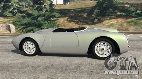 GTA 5 Porsche 550A Spyder 1956 left side view