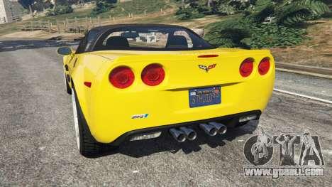 GTA 5 Chevrolet Corvette ZR1 rear left side view