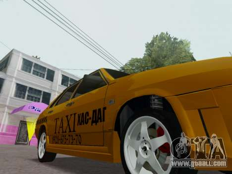 VAZ 21099 Tuning Russian Taxi for GTA San Andreas inner view