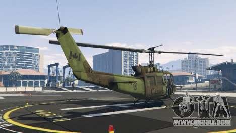 GTA 5 Bell UH-1D Huey Royal Canadian Air Force third screenshot