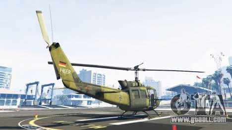 Bell UH-1D Huey Bundeswehr for GTA 5