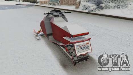 GTA 5 Snowmobile rear left side view