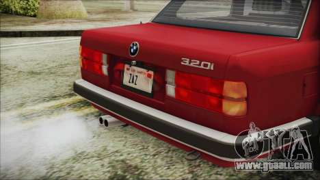 BMW 320i E21 1985 SA Plate for GTA San Andreas back view