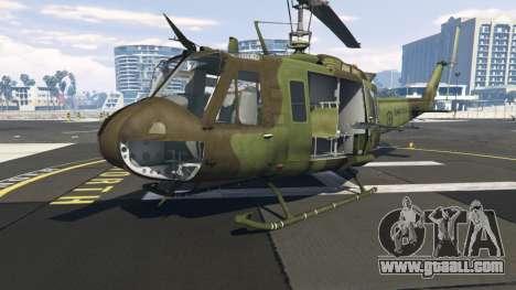 GTA 5 Bell UH-1D Huey Royal Canadian Air Force