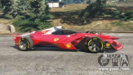 GTA 5 Ferrari F1 Concept left side view