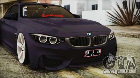 BMW M4 Stance 2014 for GTA San Andreas inner view