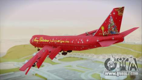 Boeing 747-100 Merry Christmas for GTA San Andreas left view