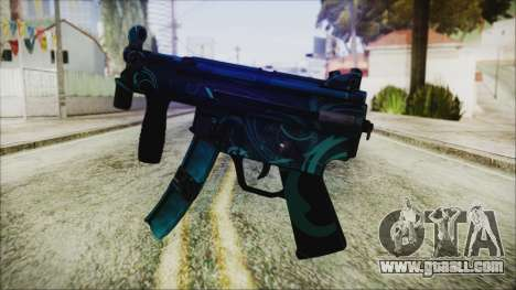 MP5K Black Blue Abstract for GTA San Andreas