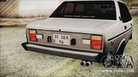 Tofas 131 Mirafiori Edition for GTA San Andreas back view