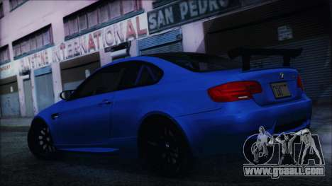 BMW M3 GTS 2011 HQLM for GTA San Andreas back left view