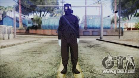 GTA 5 Online The Heist Gasmask White for GTA San Andreas second screenshot