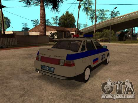 VAZ 2110 DPS for GTA San Andreas back left view