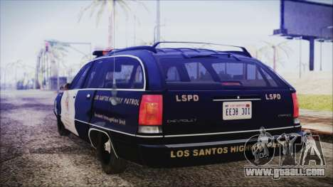 Chevrolet Caprice Station Wagon 1993-1996 LSPD for GTA San Andreas left view