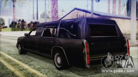 The Romeros Hearse for GTA San Andreas left view