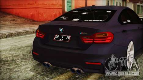 BMW M4 Stance 2014 for GTA San Andreas upper view