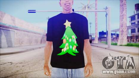 T-Shirt Christmas Tree for GTA San Andreas third screenshot