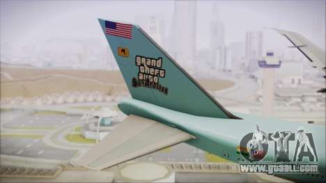 Boeing 747-100 Blue for GTA San Andreas back left view