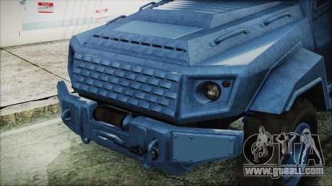 GTA 5 HVY Insurgent Van IVF for GTA San Andreas right view
