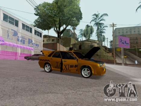 VAZ 21099 Tuning Russian Taxi for GTA San Andreas back view