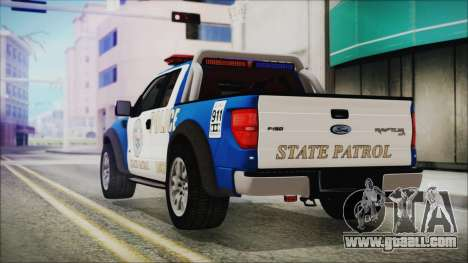 Ford F-150 SVT Raptor 2012 Police Version for GTA San Andreas left view