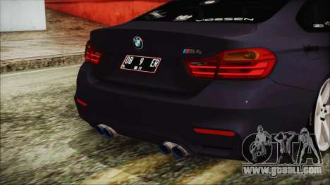 BMW M4 Stance 2014 for GTA San Andreas back view