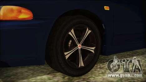 Mitsubishi Lancer 1998 for GTA San Andreas back left view