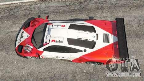 GTA 5 McLaren F1 GTR Longtail [Marlboro] back view