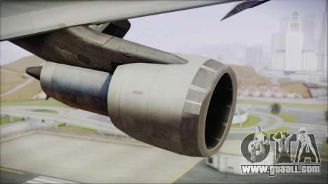 Boeing 747-100 Blue for GTA San Andreas right view