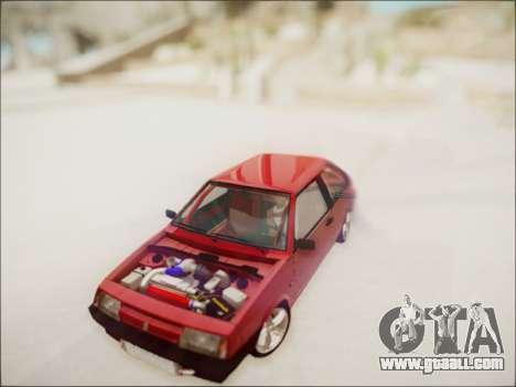 VAZ 2108 Turbo for GTA San Andreas back view