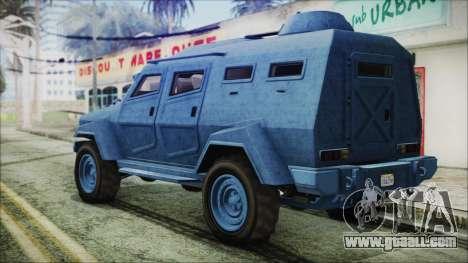 GTA 5 HVY Insurgent Van IVF for GTA San Andreas left view