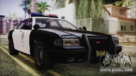 GTA 5 Vapid Stranier II Police Cruiser for GTA San Andreas