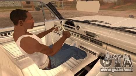 GTA 5 Declasse Clean Voodoo Hydra Version for GTA San Andreas back left view