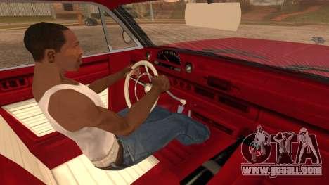 GTA 5 Declasse Clean Voodoo Bobble Version for GTA San Andreas back left view