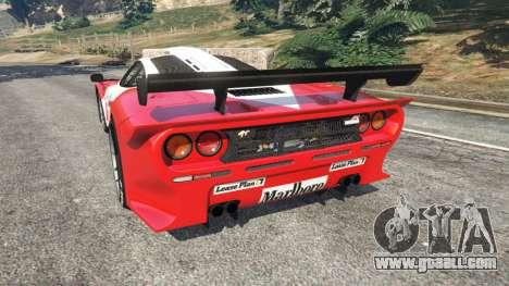 McLaren F1 GTR Longtail [Marlboro] for GTA 5