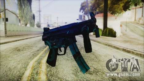 MP5K Black Blue Abstract for GTA San Andreas