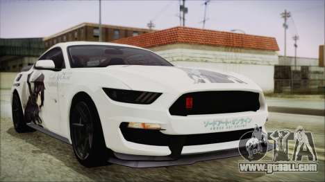Ford Mustang Shelby GT350R 2016 Kirito Itasha for GTA San Andreas
