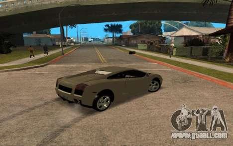 Lamborghini Gallardo Tunable v2 for GTA San Andreas upper view