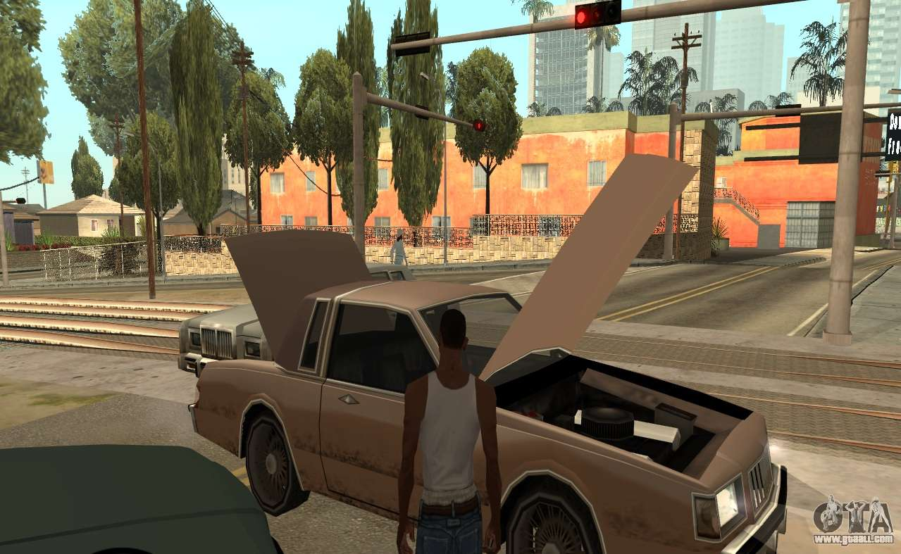 How to open the hood in GTA 7