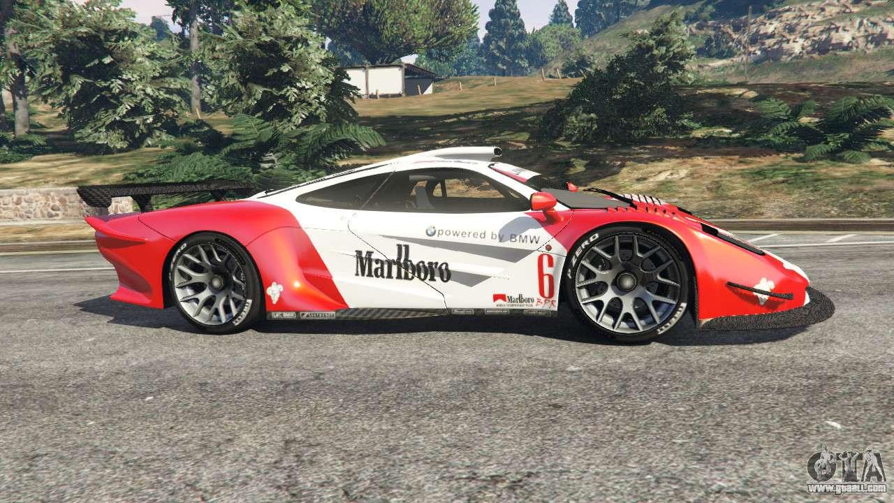 Mclaren F1 Gtr Longtail Marlboro For Gta 5