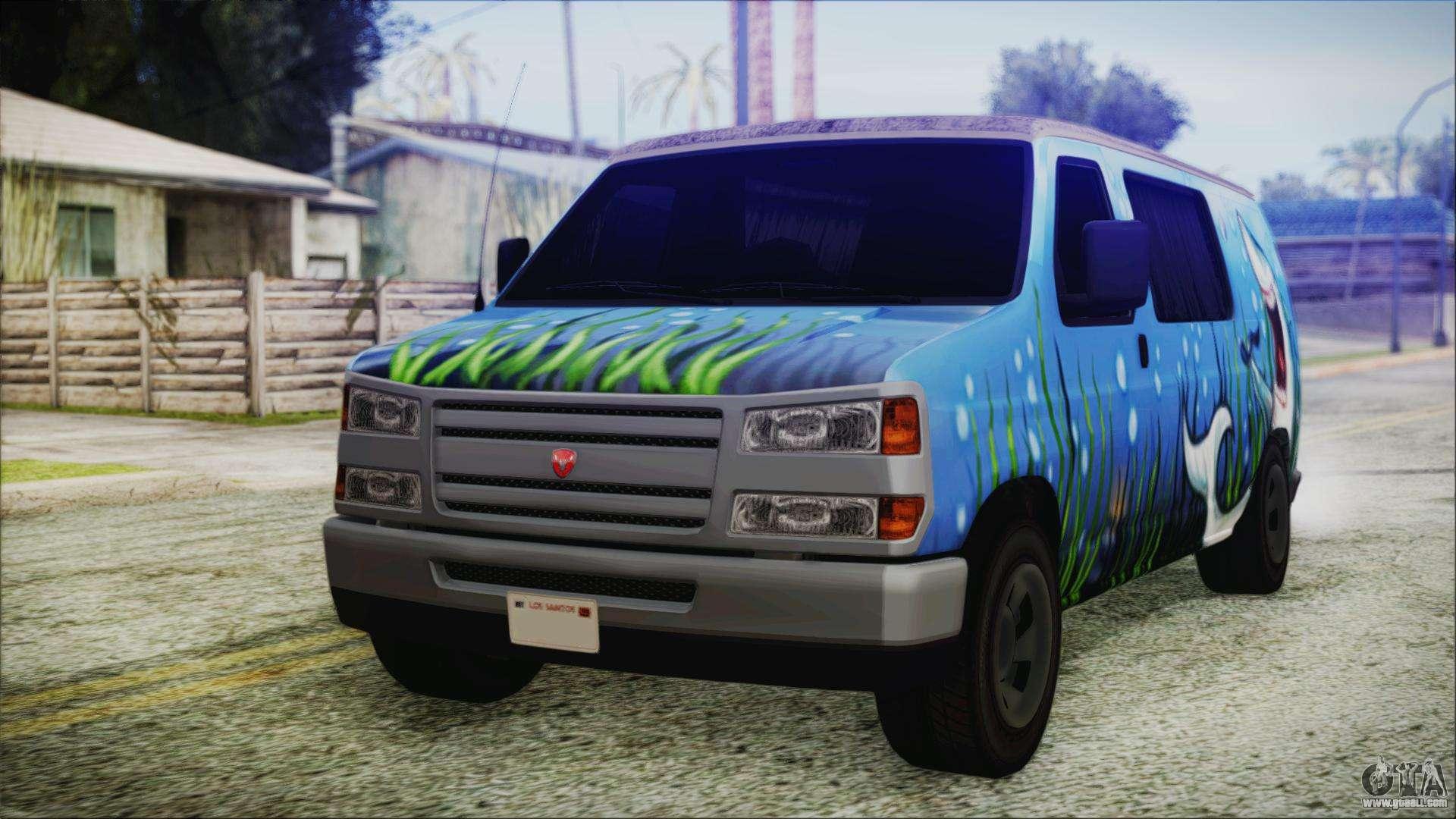 Grumman Llv For Gta San Andreas Mail Truck Fuel Filter 5 Bravado Paradise Shark Artwork