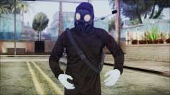 GTA 5 Online The Heist Gasmask White for GTA San Andreas