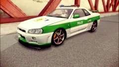 Nissan Skyline Iranian Police for GTA San Andreas